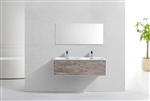 "Divario48"" Nature Wood Wall Mount Modern Bathroom Vanity"