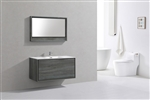 "DeLusso 48"" Single Sink Ocean Gray Wall Mount Modern Bathroom Vanity"