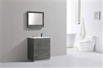 "Milano 30"" Ocean Gray Floor Mount Modern Bathroom Vanity"