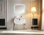 Kube Riso Modern Bathroom Vanity - White