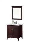 London 30'' Traditional Bathroom Vanity Set in Espresso