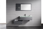 "Kube Grigio 48"" Modern Wall Mount Bathroom Vanity Set"