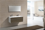 "Fitto 48"" Double Sink Havana Oak Wall Mount Modern Bathroom Vanity"