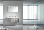 "Fitto 48"" Double Sink Ash Gray Wall Mount Modern Bathroom Vanity"