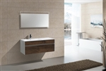 "Fitto 48"" Single Sink  Rosewood Wall Mount Modern Bathroom Vanity"