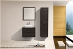 "Tucci 30"" Gray Oak Wall Mount Modern Bathroom Vanity w/ Vessel Sink"