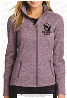 Cherokee Bluff Ladies Digi Stripe Fleece Jacket