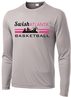 Swish Atlanta Silver Long Sleeve Dri-fit Tee