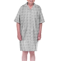 Dignity pajamas SS107 Mens Cotton Short sleeve adaptive open back hospice patient gown sleepwear
