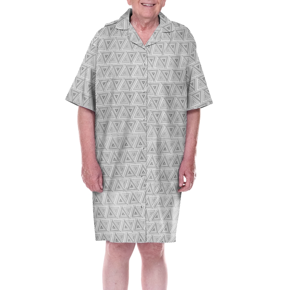 Mens 100 percent cotton adaptive sleepwear, hospice pajama,hospice ...