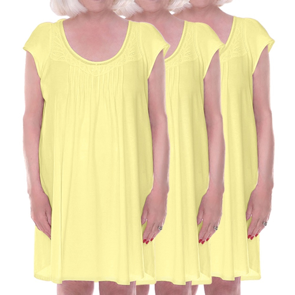 3 pack, Womens 100 percent cotton knit adaptive sleepwear, hospice ...