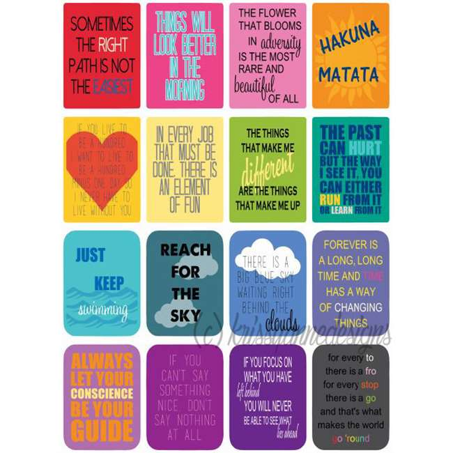 Disney Inspired Quote Stickers For Planners Made To Order