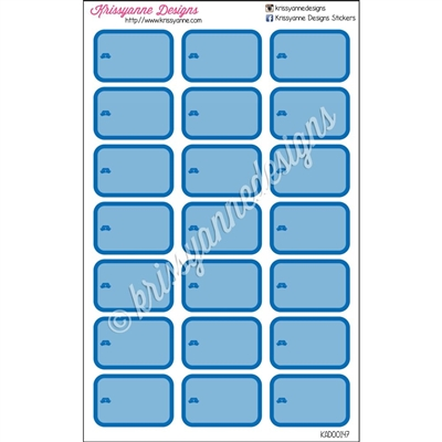 Round Corner Half Box Icons - Blue Nurse Set - Set of 21