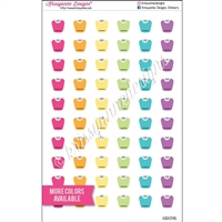 Small Weigh in Scale Stickers - Set of 60