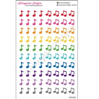 Music Note Cutout Stickers - Set of 80