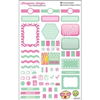 KAD Weekly Planner Set - Pink and Green