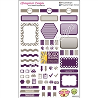 KAD Weekly Planner Set - Purple and Taupe