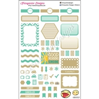 KAD Weekly Planner Set - Green and Tan