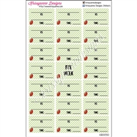 Blank Football Schedule - Set of 21