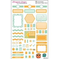 KAD Weekly Planner Set - Orange and Seafoam