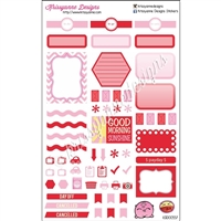 KAD Weekly Planner Set - Pink and Red