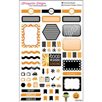 KAD Weekly Planner Set - Black and Orange