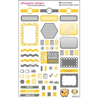 KAD Weekly Planner Set - Gold and Gray