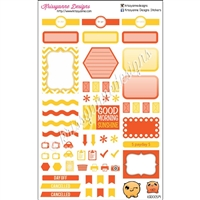 KAD Weekly Planner Set - Orange and Gold
