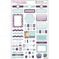 KAD Weekly Planner Set - Purple and Seafoam