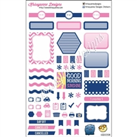 KAD Weekly Planner Set - Navy and Pink