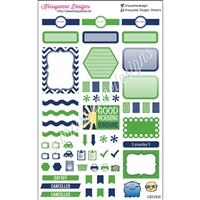 KAD Weekly Planner Set - Navy and Green - Squishy Week