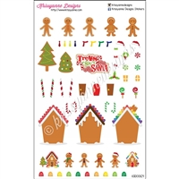Create Your Own Gingerbread Sticker Set