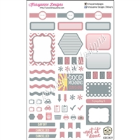 KAD Weekly Planner Set - Gray and Pink