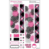 KAD Weekly Decoration Set - EC - Hot Pink and Black