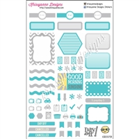 KAD Weekly Planner Set - Light Gray and Turquoise