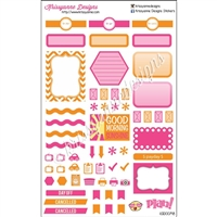 KAD Weekly Planner Set - Orange and Hot Pink