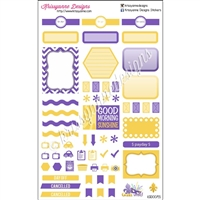 Geaux Wild NOLA Weekly Planner Set - Purple and Gold - Set of 35