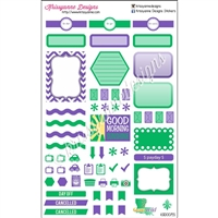 Geaux Wild NOLA Weekly Planner Set - Purple and Green - Set of 35
