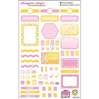 KAD Weekly Planner Set - EL Yellow and Pink