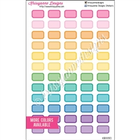 Small Rectangle Stickers - Bold Rainbow with Overlay - Set of 60