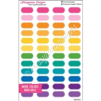 Small Lined Oval Stickers - Bold Rainbow - Set of 60