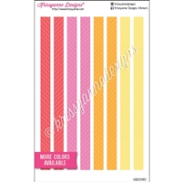 KAD Decoration Set - Personal Size Decoration Strips - Two Tone Stripes - Set of 8