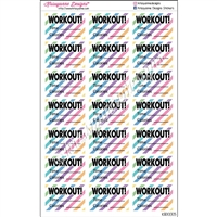 Half Box WORKOUT! - Rainbow Stripes - Set of 21