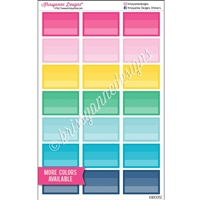 Square Corner Ombre Half Box Stickers - Set of 21