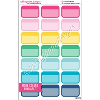 Round Corner Color Block Half Box with Overlay - Set of 21