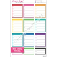 Full and Half Box Checklist with Header - Set of 12