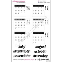 Small Monthly Calendar Tabs - July - December