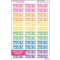 Notes Flags with Square Edge - Set of 36