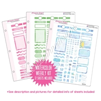 Binder Kit - KAD Functional Weekly Kit - Watercolor
