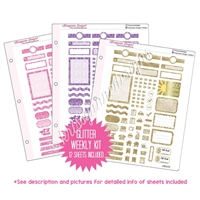 Binder Kit - KAD Functional Weekly Kit - Glitter